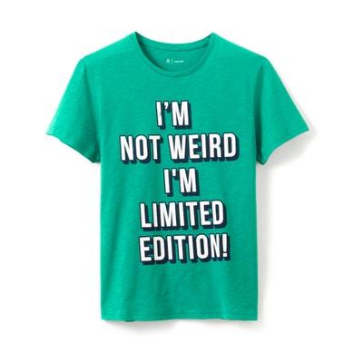 T-shirt col rond imprimé pur coton T-shirt col rond imprimé pur coton La Redoute Collections