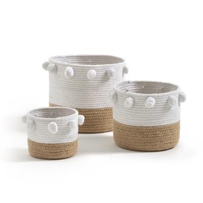 Baladane Pom-Pom Baskets (Set of 3) Baladane Pom-Pom Baskets (Set of 3) La Redoute Interieurs