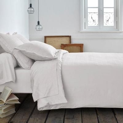 Housse de couette satin de coton grands carreaux Housse de couette satin de coton grands carreaux La Redoute Interieurs