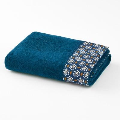 Oriane Bath Towel with Printed Border Oriane Bath Towel with Printed Border La Redoute Interieurs