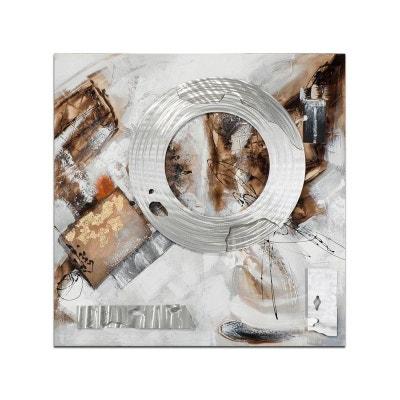 8b453442d4786 ABSTRAIT Peinture carrée Argenté métal Acrylique 100x100 ABSTRAIT Peinture  carrée Argenté métal Acrylique ...
