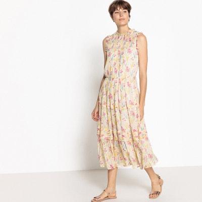 Vestido sem mangas, comprimento médio, estampado floral MADEMOISELLE R