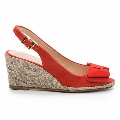 Sandales compensées cuir, Hidi Mir COSMOPARIS