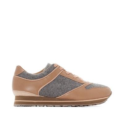 Sneakers in 2 stoffen, brede voet Sneakers in 2 stoffen, brede voet CASTALUNA