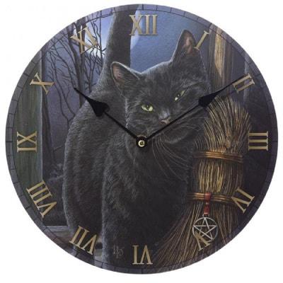 Horloge Chat et balai magique par Lisa Parker Horloge Chat et balai magique par Lisa Parker PUCK
