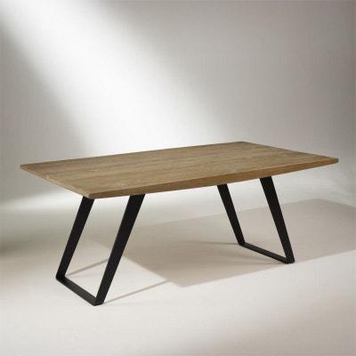 Table plateau chêne massif, pieds métal,  8 à 10 couverts, HECTOR Table plateau chêne massif, pieds métal,  8 à 10 couverts, HECTOR ROBIN DES BOIS
