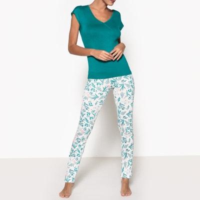 Pijama em viscose, estampado vegetal, Arome DODO
