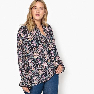 Blusa con estampado de flores, manga larga Blusa con estampado de flores, manga larga CASTALUNA