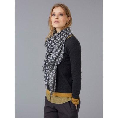 74c57aa7049 Etole femme laine et viscose motif japonais