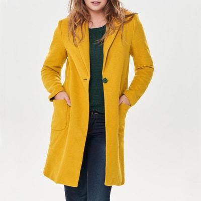 Cappotto lungo in lana, tasche applicate Cappotto lungo in lana, tasche applicate ONLY