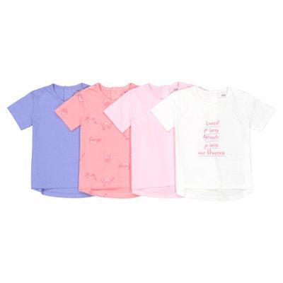 Lote de 4 camisetas 1 mes - 3 años Oeko Tex Lote de 4 camisetas 1 mes - 3 años Oeko Tex La Redoute Collections