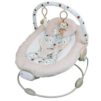 Transat bébé vibrant et musical + Barre à jouets et dossier inclinable - Bulle de rêve MONSIEUR BEBE