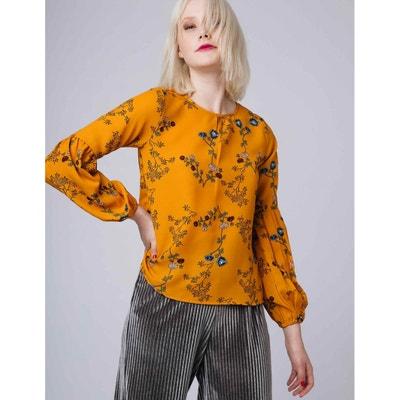 Blusa com gola redonda, estampado floral, mangas compridas Blusa com gola redonda, estampado floral, mangas compridas COMPANIA FANTASTICA