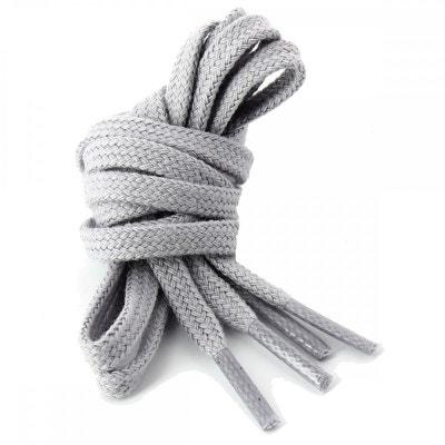 lacets plats coton couleur Cendre LES LACETS FRANCAIS