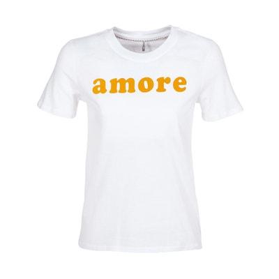 T-Shirt mit rundem Ausschnitt, platziertes Motiv T-Shirt mit rundem Ausschnitt, platziertes Motiv ONLY