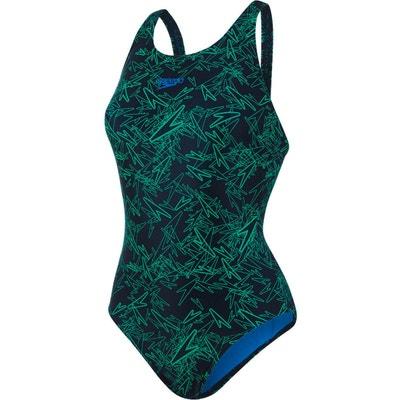 Boom Allover Muscleback - Maillot de bain Femme - vert noir SPEEDO 90ee74dae2b2