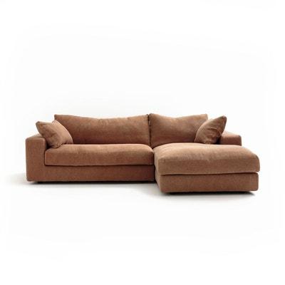Canapé d'angle fixe Skander, lin AM.PM
