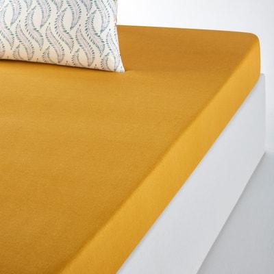 YALINGA Plain Cotton Fitted Sheet YALINGA Plain Cotton Fitted Sheet La Redoute Interieurs