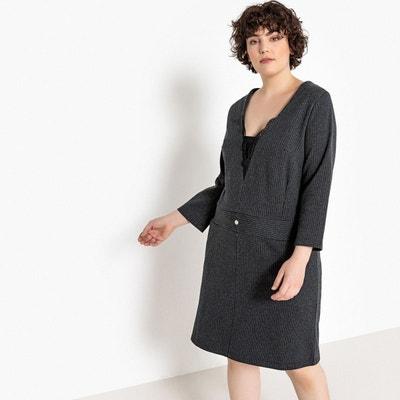 59948d7c4310e Robe droite à fines rayures, manches longues Robe droite à fines rayures,  manches longues. Soldes. CASTALUNA
