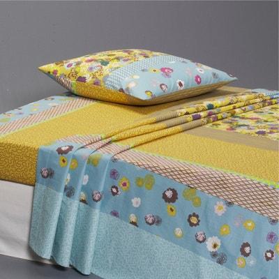 YURTI Floral Print and Stripes Flat Sheet La Redoute Interieurs