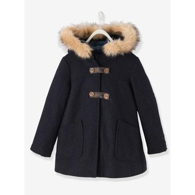 Manteau fille en drap de laine Manteau fille en drap de laine VERTBAUDET