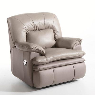 Cadeirão de relaxamento em pele, Matei, função massagem Cadeirão de relaxamento em pele, Matei, função massagem La Redoute Interieurs