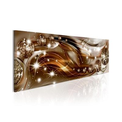 Tableau Panoramique - Ruban brun éclatant - Dimension - 135x45 RECOLLECTION