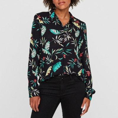 Palm Print Long-Sleeved Shirt VERO MODA