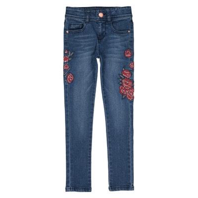 Jeans skinny com bordados, 4 - 14 anos Jeans skinny com bordados, 4 - 14 anos IKKS JUNIOR