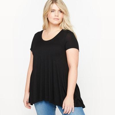 T-Shirt mit rundem Ausschnitt, unifarben T-Shirt mit rundem Ausschnitt, unifarben CASTALUNA