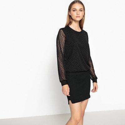 Mesh Style Star Print Sweatshirt MADEMOISELLE R