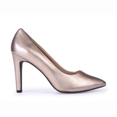 D Caroline C Leather Heels GEOX