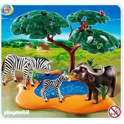 Playmobil 4828 : Buffle africain avec zèbres Playmobil 4828 : Buffle africain avec zèbres PLAYMOBIL