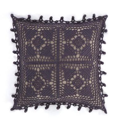 Capa de almofada em crochet Button Capa de almofada em crochet Button La Redoute Interieurs