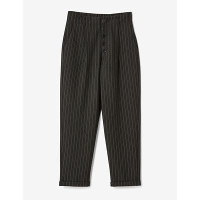 pantalon a rayure noir et blanc la redoute. Black Bedroom Furniture Sets. Home Design Ideas