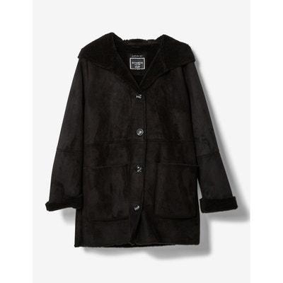 Manteau mi long femme noir jennyfer