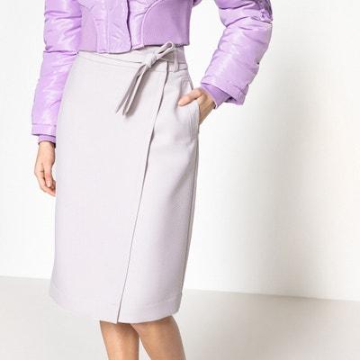 Midi Wrapover Skirt Midi Wrapover Skirt La Redoute Collections
