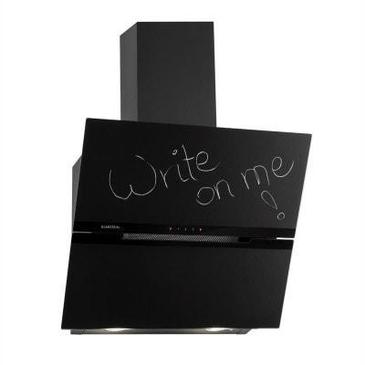 klarstein sancta clara 60 hotte aspirante 60cm 620 mh blackboard verre noir klarstein