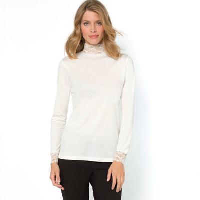 T-shirt con collo alto tinta unita, maniche lunghe T-shirt con collo alto tinta unita, maniche lunghe ANNE WEYBURN