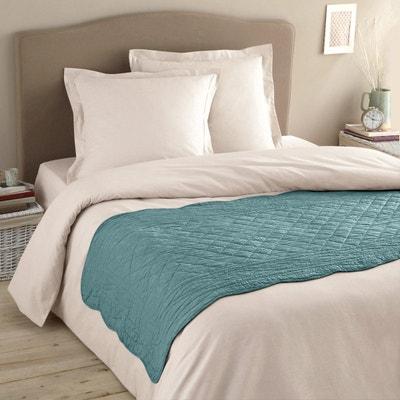 chemin de lit bleu la redoute. Black Bedroom Furniture Sets. Home Design Ideas