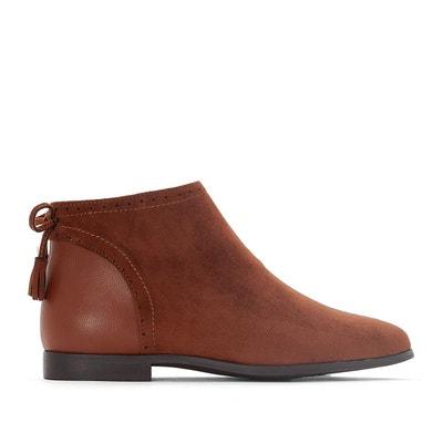 Boots cuir détail paillettes - La Redoute Collections - CamelLa Redoute Collections ClyfCaGqD