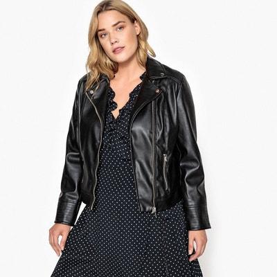 Veste de cuir femme grande taille