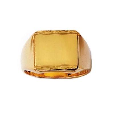 Bague Chevalière rectangulaire anneau Plaqué Or 750 Jaune Bague Chevalière rectangulaire anneau Plaqué Or 750 Jaune SO CHIC BIJOUX