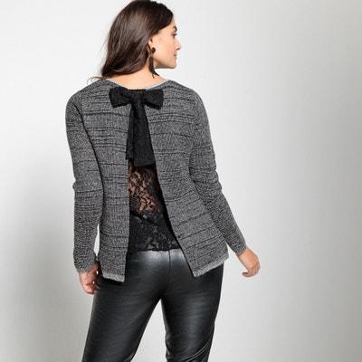 Pullover mit rundem Ausschnitt und Spitzenrücken Pullover mit rundem Ausschnitt und Spitzenrücken ANNE WEYBURN