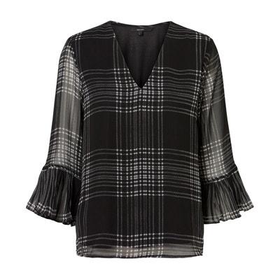 Bluse mit V-Ausschnitt und langen Volantärmeln Bluse mit V-Ausschnitt und langen Volantärmeln VERO MODA