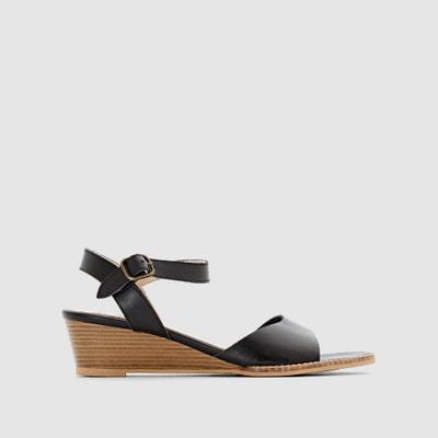 Leather Wedge Sandals Leather Wedge Sandals ANNE WEYBURN