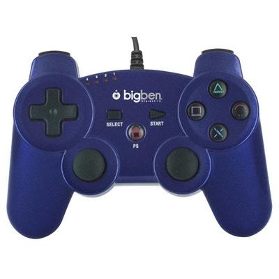 Mini manette filaire bleu foncé métallisé pour PS3 Mini manette filaire bleu foncé métallisé pour PS3 BIG BEN