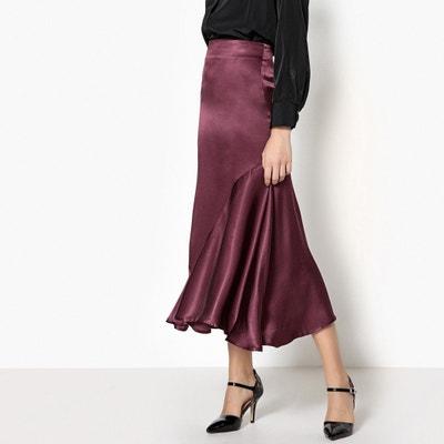 Silk Style Ruffled Midi Skirt Silk Style Ruffled Midi Skirt La Redoute Collections