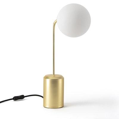 Lampe à poser laiton et opaline, MORICIO La Redoute Interieurs