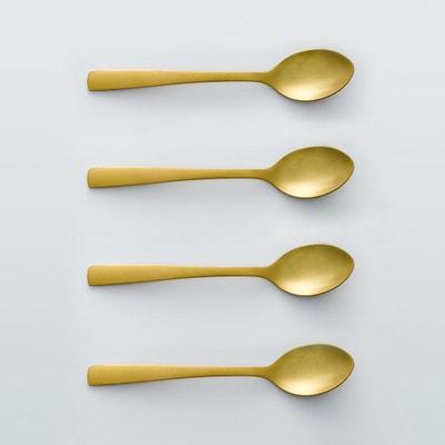Lot 4 cuillères à café dorées, AUBERIE Lot 4 cuillères à café dorées, AUBERIE La Redoute Interieurs
